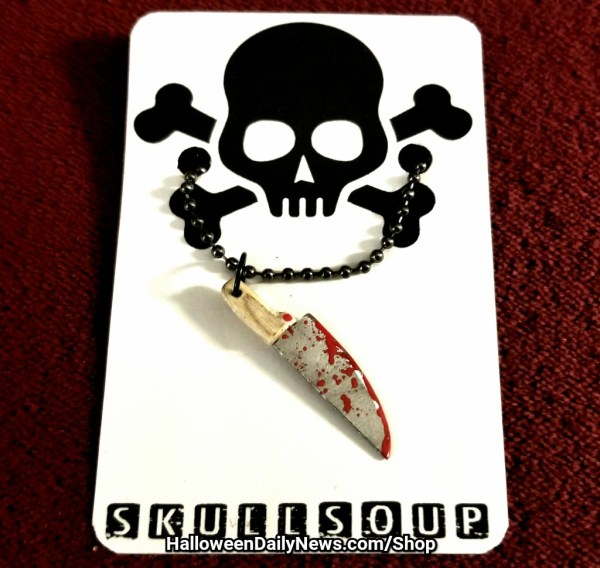Bloody Butcher Knife Pendant by Skull Soup
