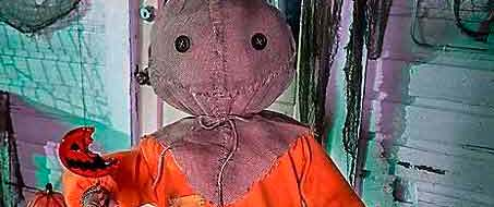 Trick 'r Treat Sam animatronic from Spirit Halloween