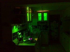 Halloween Lighting green-kitchen