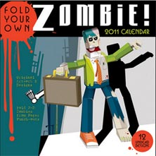 fold your own zombie halloween calendars