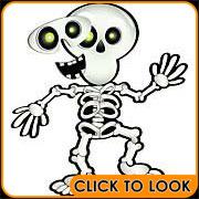 pin the smile on the skeleton halloween game