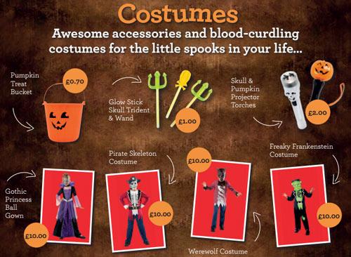 Morrisons Halloween 2015 costumes