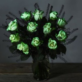 Halloween Glow in the Dark Roses Bouquet