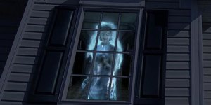 Halloween window projection