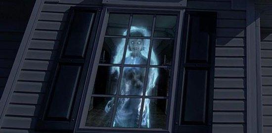 Halloween window projection