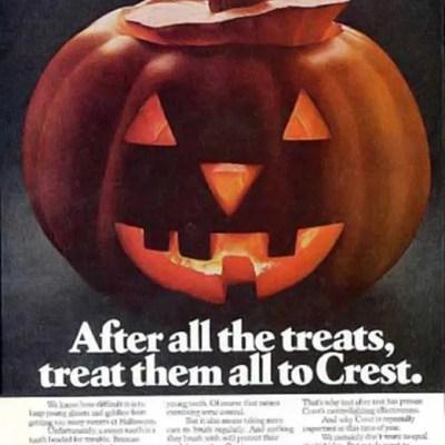 Crest Jack-o-lantern halloween ad