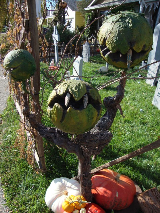 Evil Vines Cemetery Outdoor Yard Haunt Man Eating Plants
