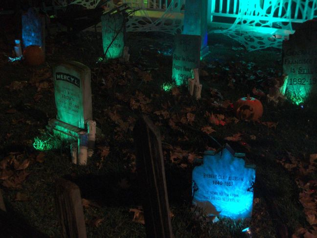 Evil Vines Cemetery Outdoor Yard Haunt Night Photos