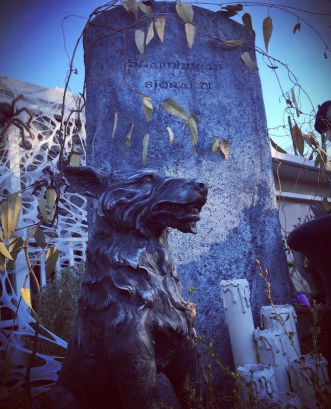 Evil Vines Cemetery Outdoor Yard Haunt Pet Prop and Tombstone