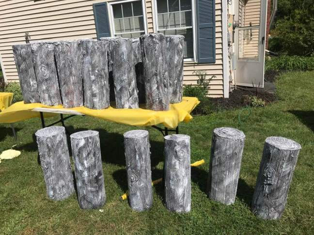Creepy Dock Piling Props For Halloween Shipwreck Scenes After Dry Brushing