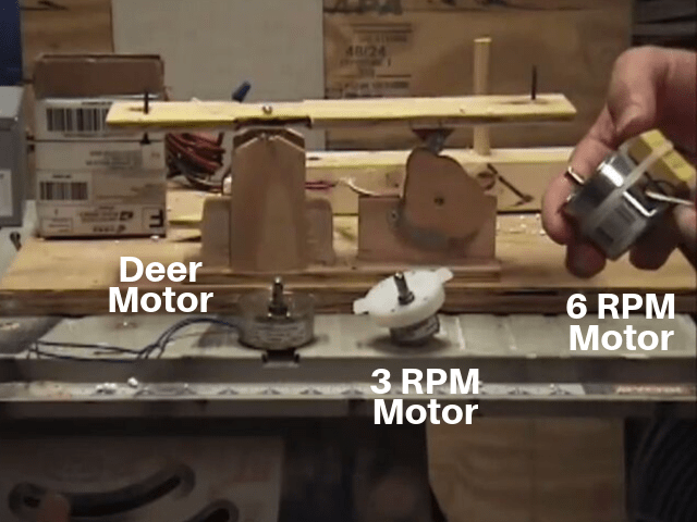 Moving Halloween Tombstone Prop Motor Sizes