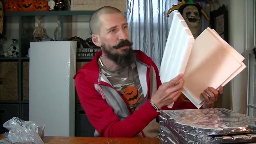 Upgrade Your Cheap Dollar Store Halloween Tombstones Using Packaging Foam