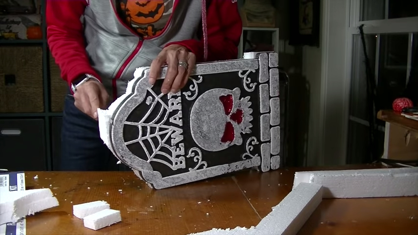 Upgrade Your Cheap Dollar Store Halloween Tombstones With Weathering