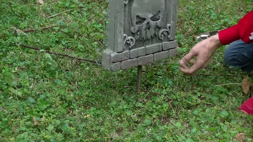 Upgrade Your Cheap Dollar Store Halloween Tombstones Rebar Support