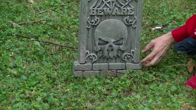 Upgrade Your Cheap Dollar Store Halloween Tombstones Support Stakes