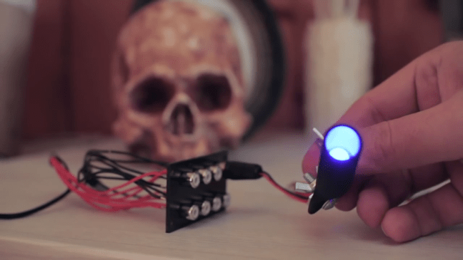 How To Make Halloween LED Spotlight Lighting with RCA Connectors Lit Up
