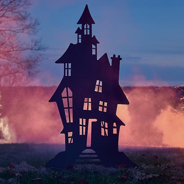 grandin road outdoor haunted house decor