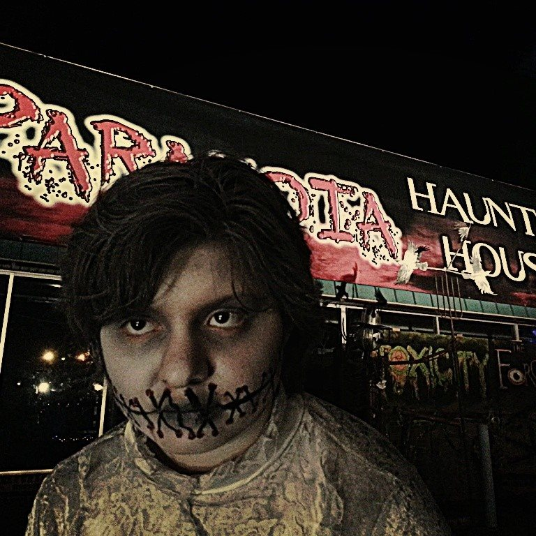 Paranoia Haunted House Front Entrance