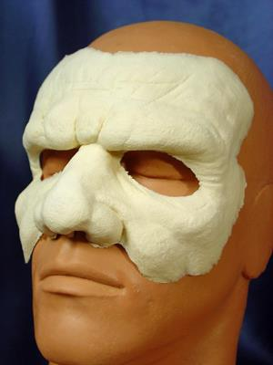Rubberwear Prosthetic Foam Face and Forehead Detail