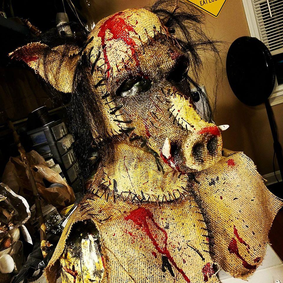 Sinister FX Burlap Pig Face Mask
