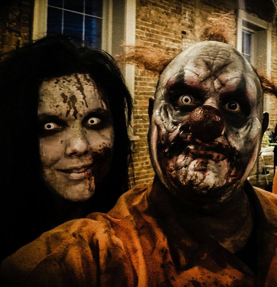 Blood Prison Ohio Haunted House Escaped Prisoner Man and Woman