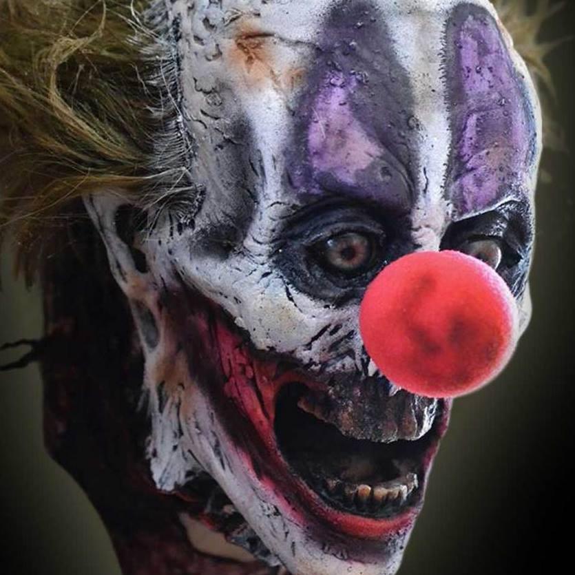 haunted props clown mask