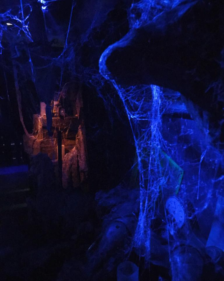 Paranoia Haunted House Blacklight Cobwebs