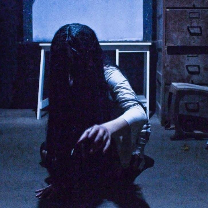 Terror On The Coast Haunted House Creepy Crawling Girl In Dark