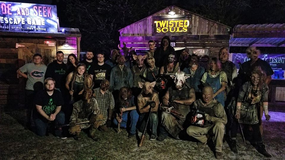 Ominous Descent Florida Scariest Haunted House Actor Group Photo