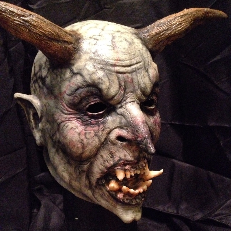 Night Terror Productions Devil Horns Halloween Mask