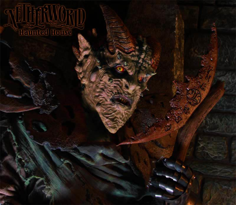 Netherworld Scariest Haunted House Creepy Goblin Actor Creatures