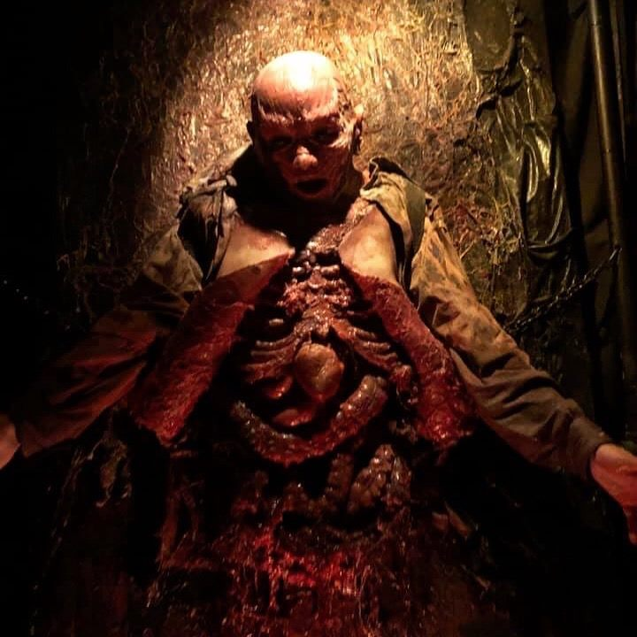 All Hallows Eve Terror Town Ohio Scariest Haunted House Morbid Body With Exposed Guts
