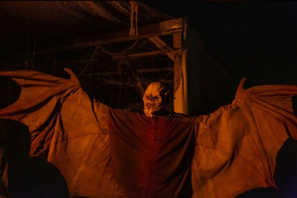 All Hallows Eve Terror Town Ohio Scariest Haunted House Human Bat Actor