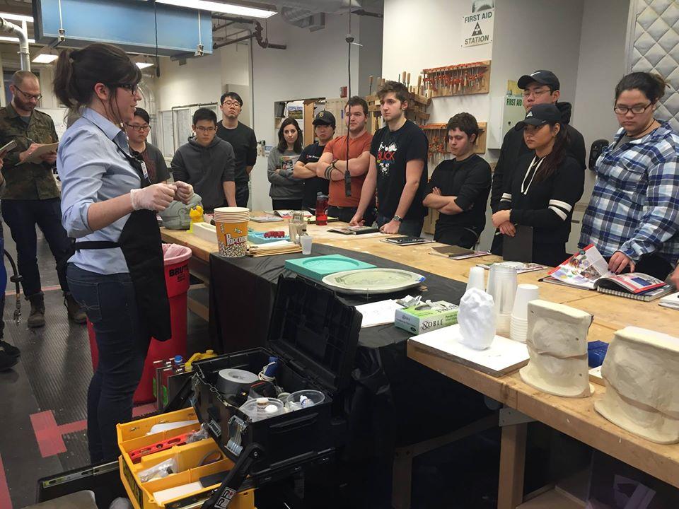 Reynolds Advanced Materials Workshop Mold Making Class