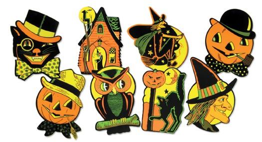 Retroween Halloween Retro Decoration Window Decorations