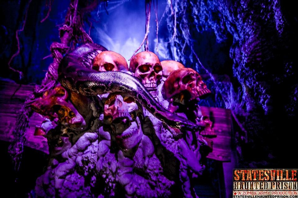 Statesville Haunted Prison Skeleton and Skulls