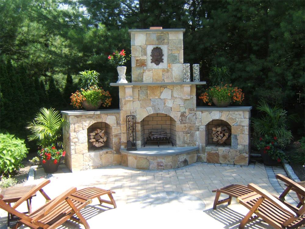 Rhode Island masonry stone walls brick veneers patios walkways fireplaces RI mason