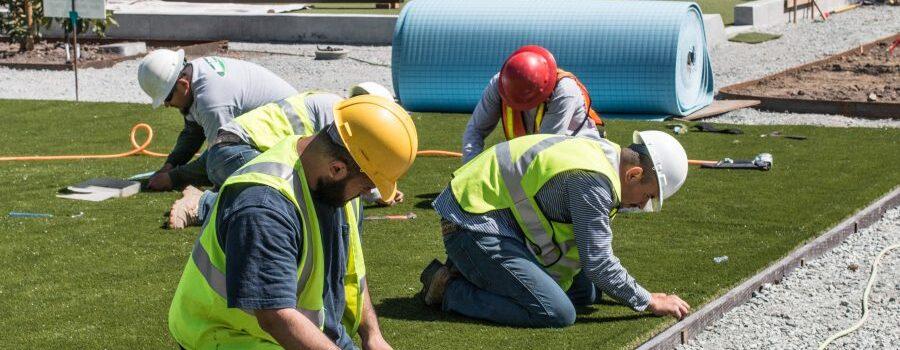 Hall Turf artificial grass installation crew in Kansas City
