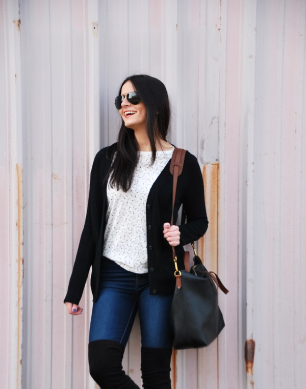 outfit idea with over the knee boots