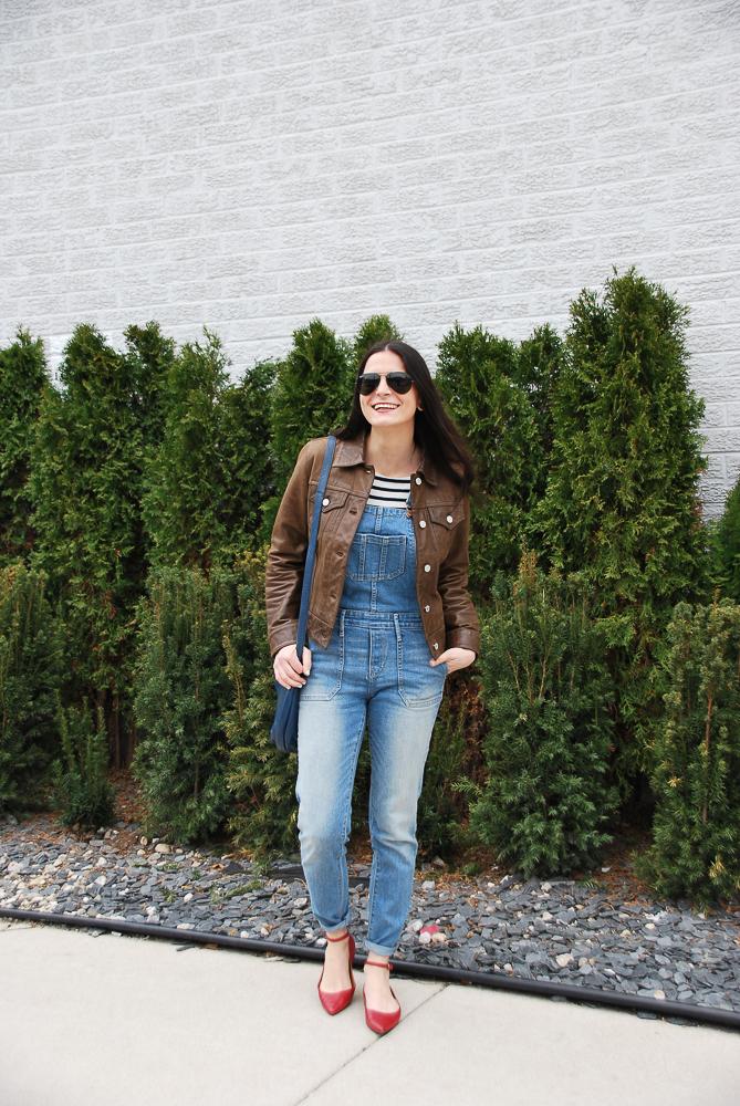 gap brown leather jacket