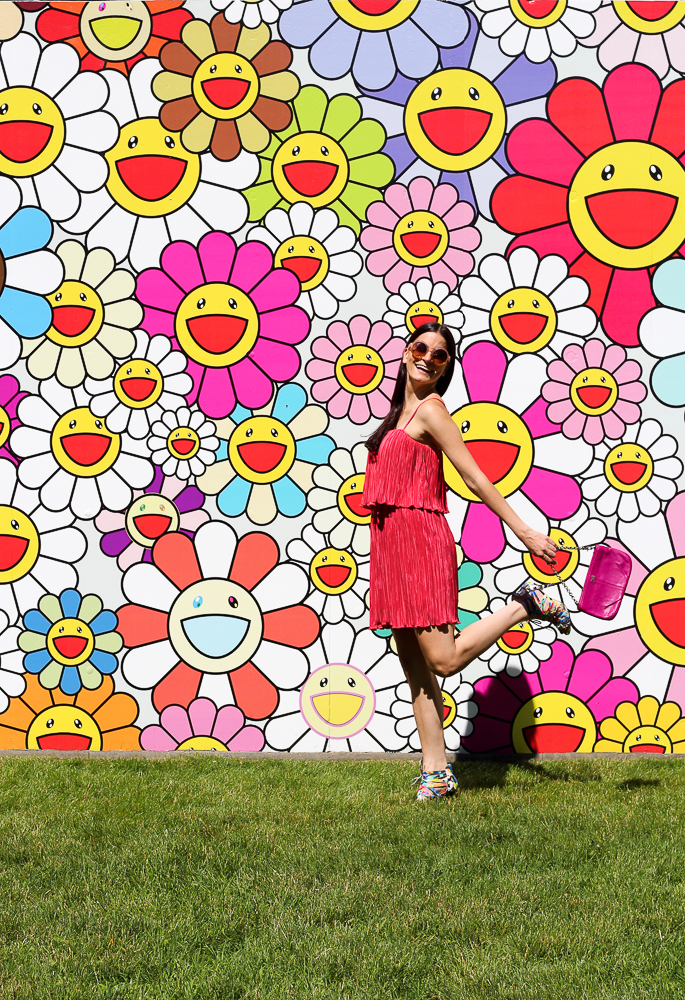all smiles at the murakami sculpture park