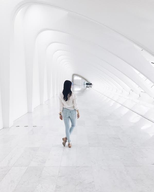 Gorgeous hallways in the Milwaukee Art Museum