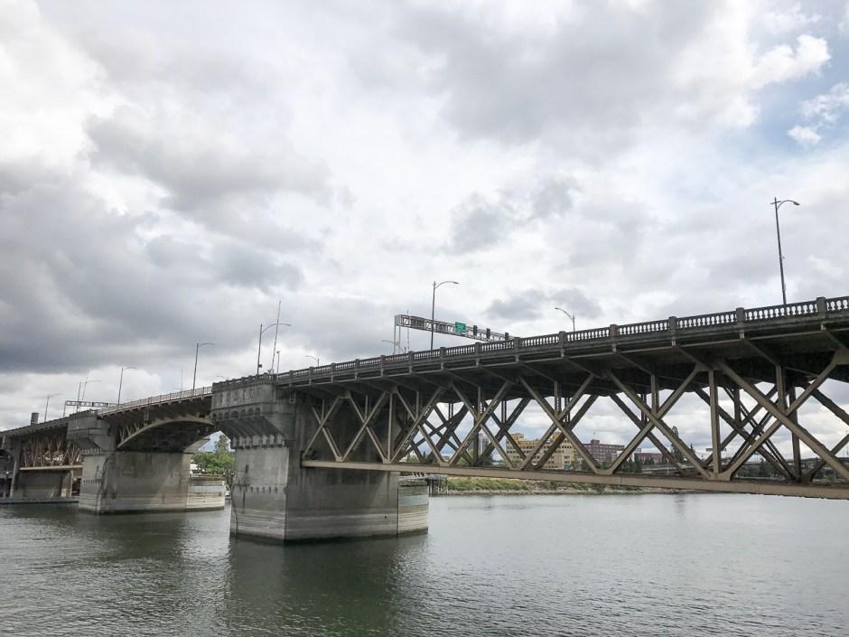 a bridge in portland