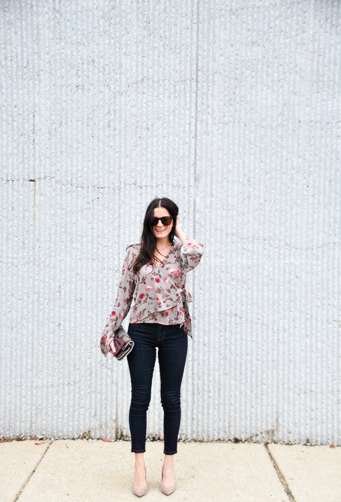 Ten Sixty Sherman Floral Wrap Bell Shirt