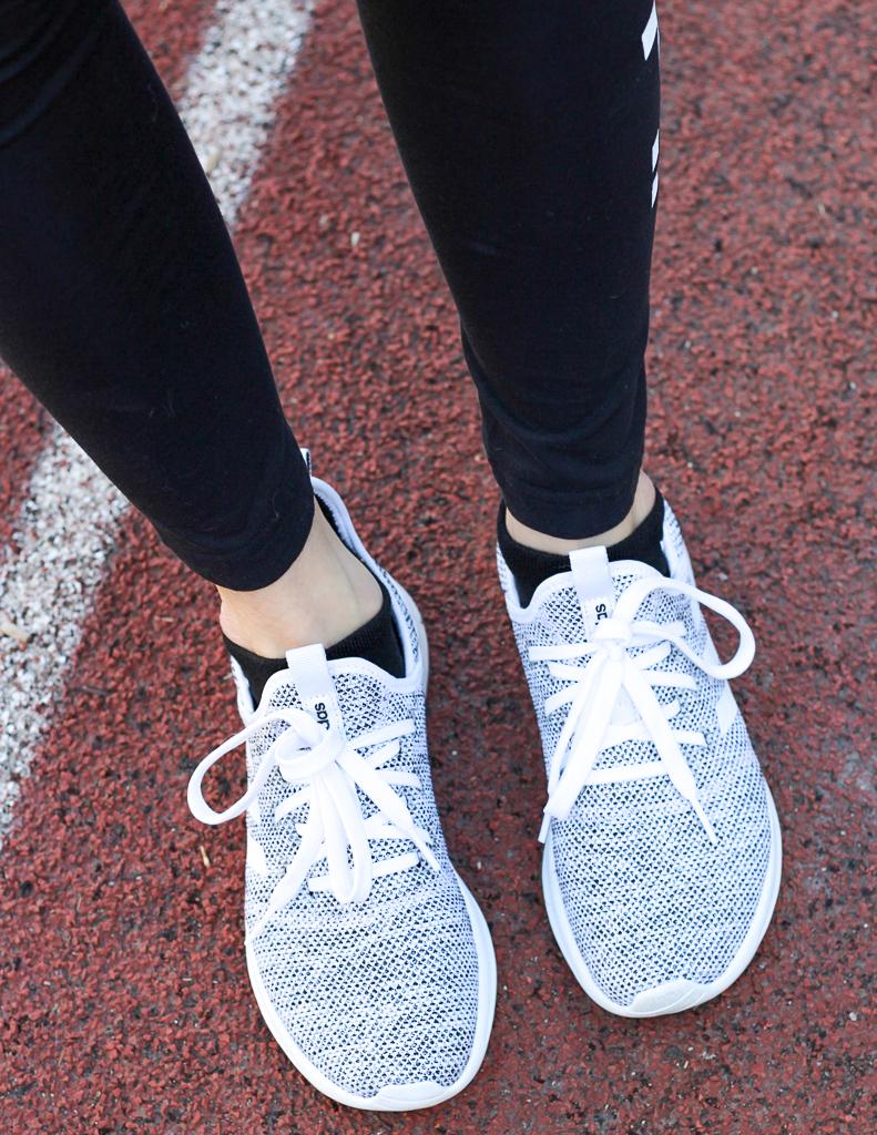 white clouldfoam shoes
