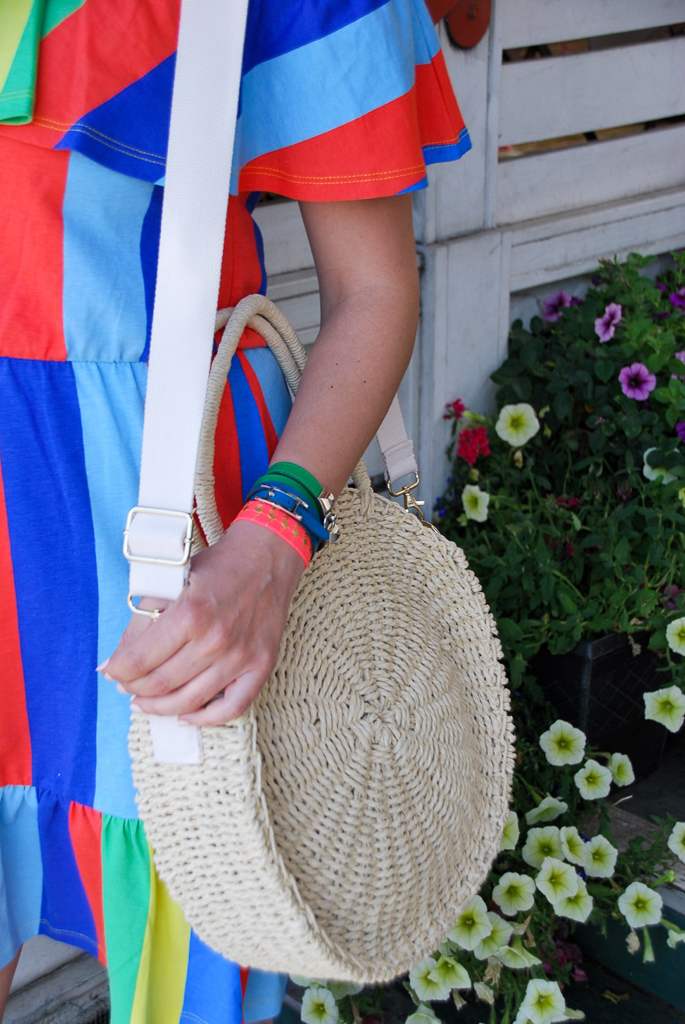 straw circle handbag