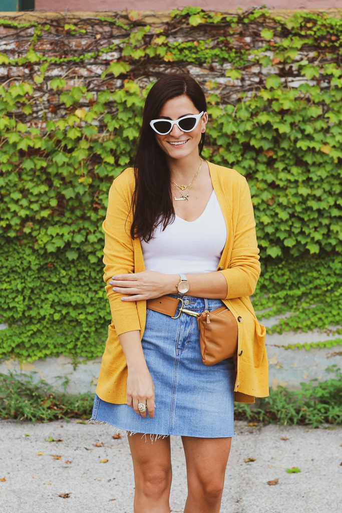 yellow and denim