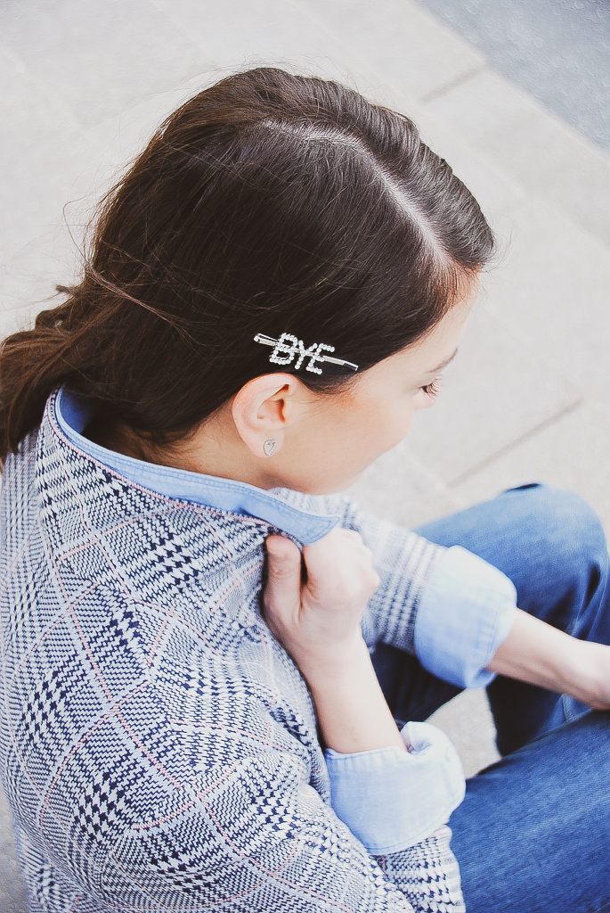 bye word hair clip