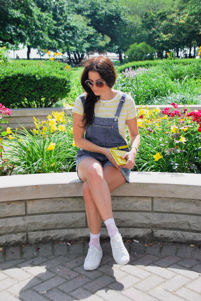 shortalls with sneakers