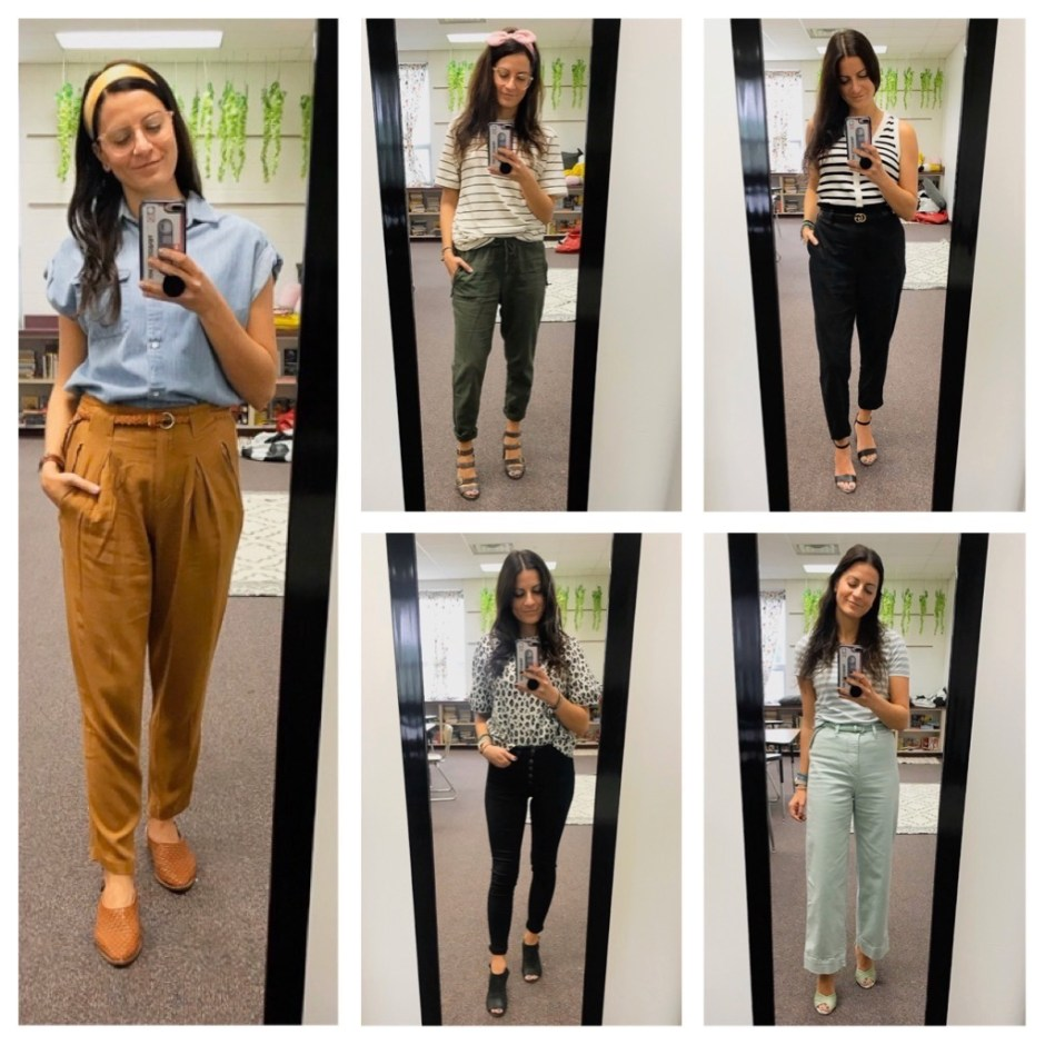 week four work outfits